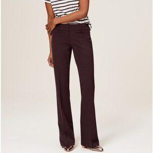 ANN TAYLOR MARISA TROUSER Burgundy Dress Pants 14
